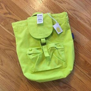NWT Zumiez Neon Canvas Backpack